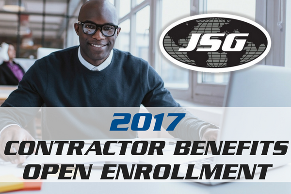JSG CONTRACTOR BENEFITS OPEN ENROLLMENT