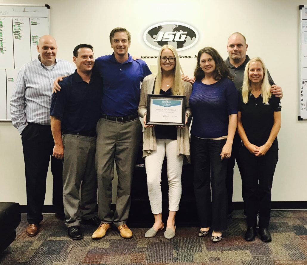 JSG Florida Receives Supplier Excellence Award