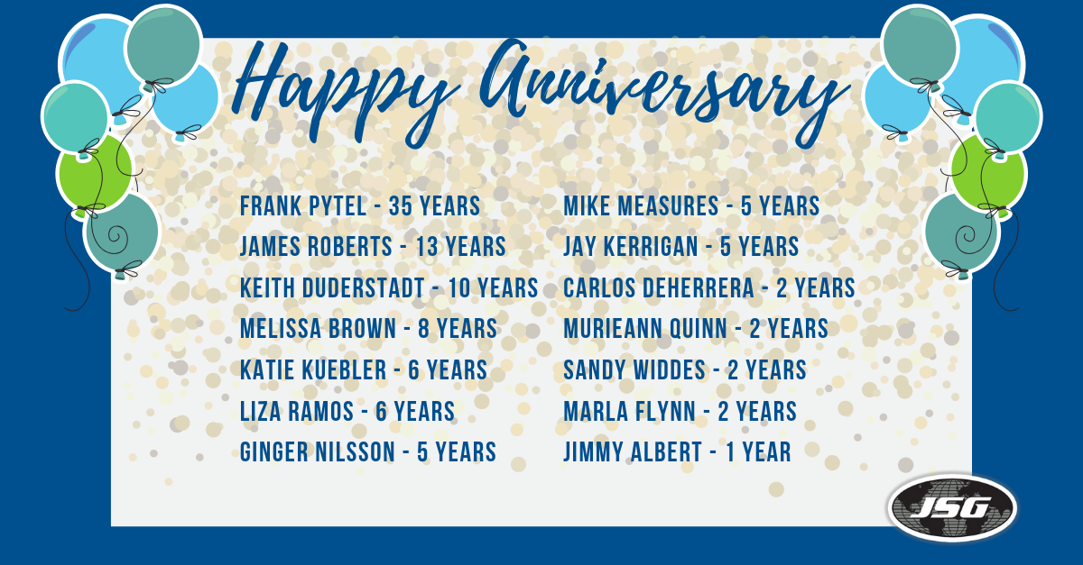 April 2019 Anniversaries