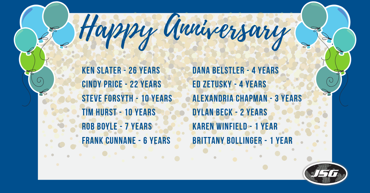 May 2019 Anniversaries