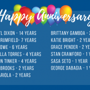 September 2019 Anniversaries