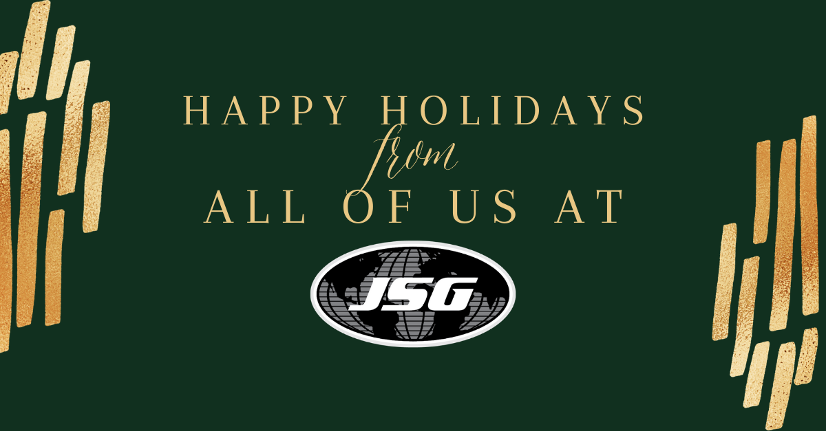 Happy Holidays From All Of Us At JSG